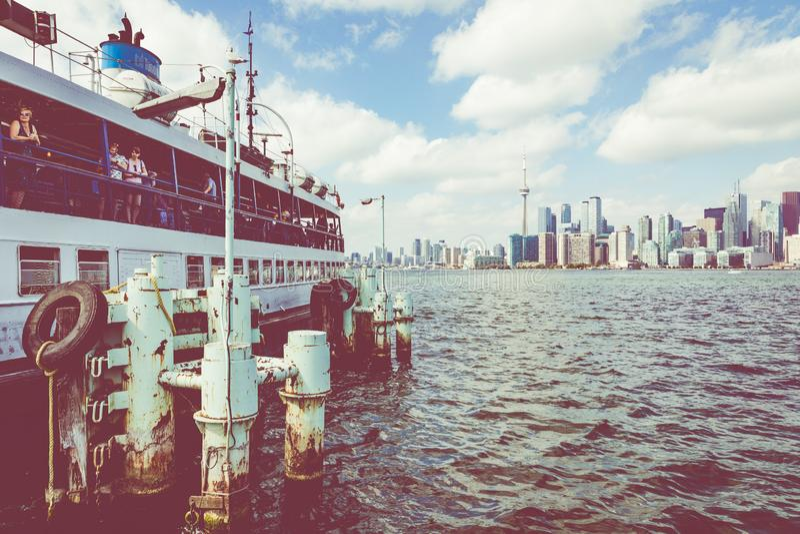 TORONTO KANADA, WRZESIEŃ, - 19, 2018: Piękny Toronto skylin zdjęcie royalty free