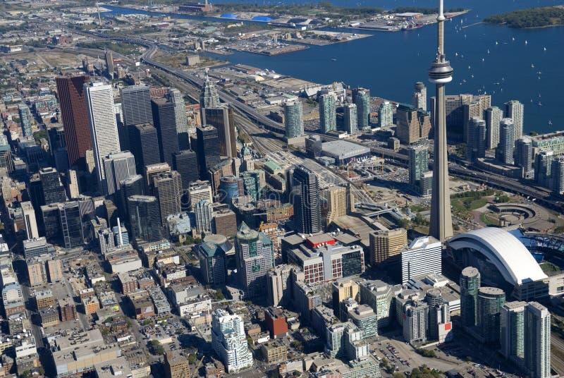 Toronto-Kontrolltürme lizenzfreie stockbilder