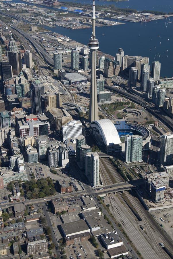Toronto-Kontrolltürme stockbild