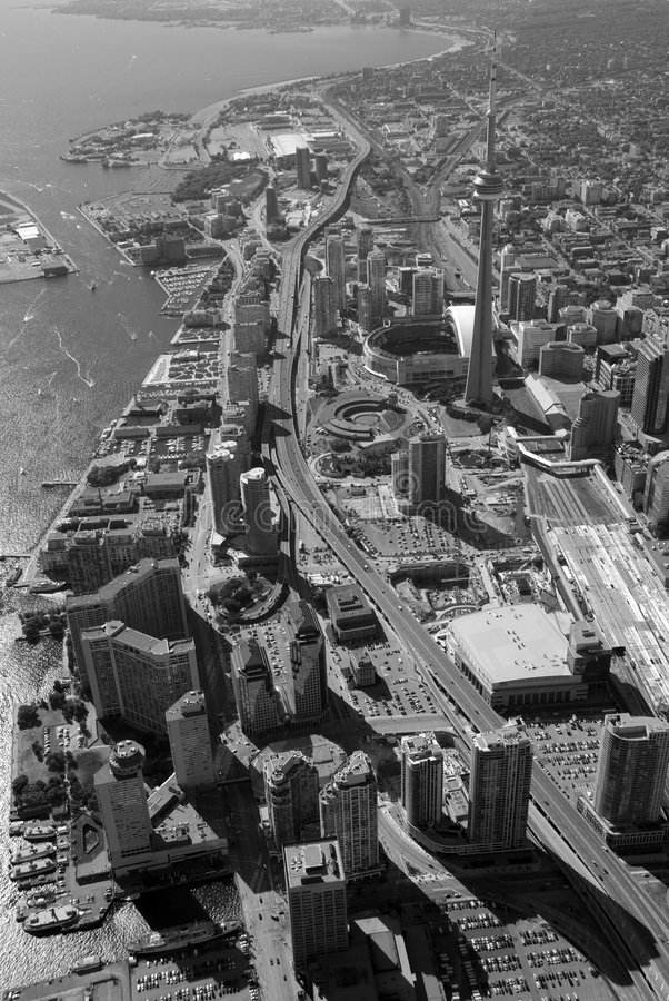 Toronto-Kontrolltürme stockbilder