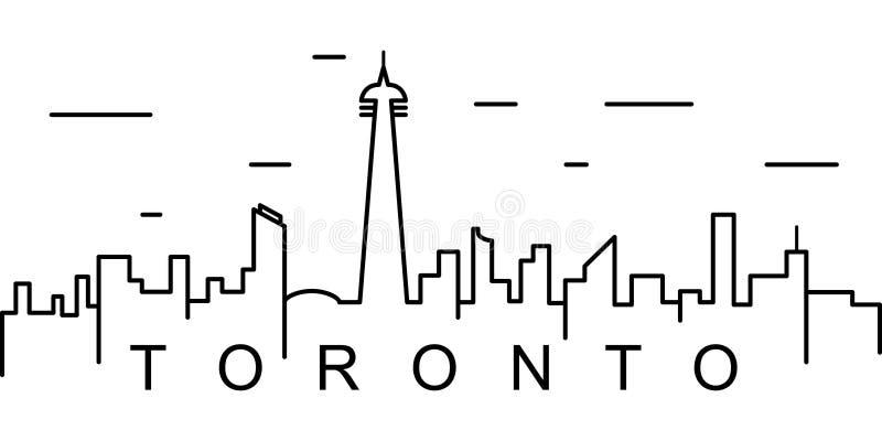 Toronto konturu ikona Może używać dla sieci, logo, mobilny app, UI, UX ilustracja wektor
