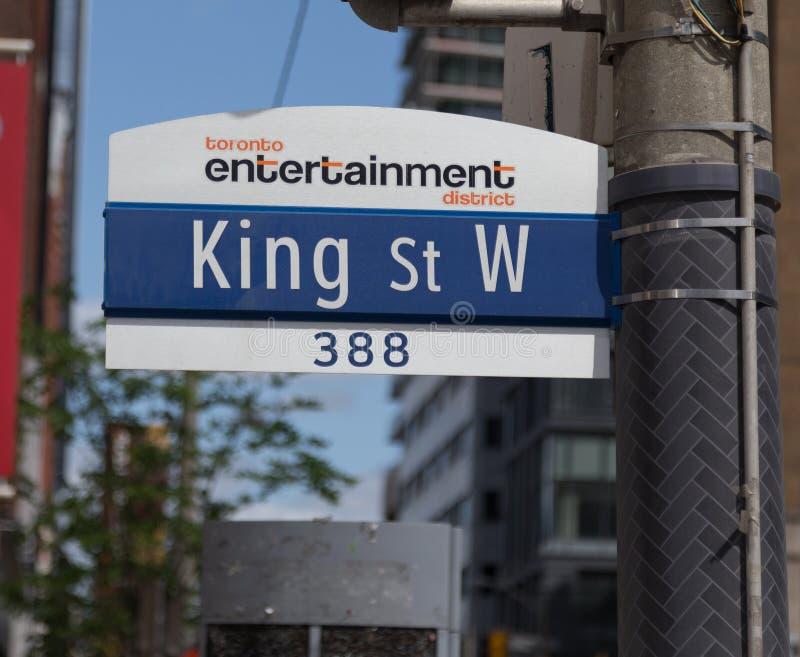 Toronto konung Street West royaltyfri bild