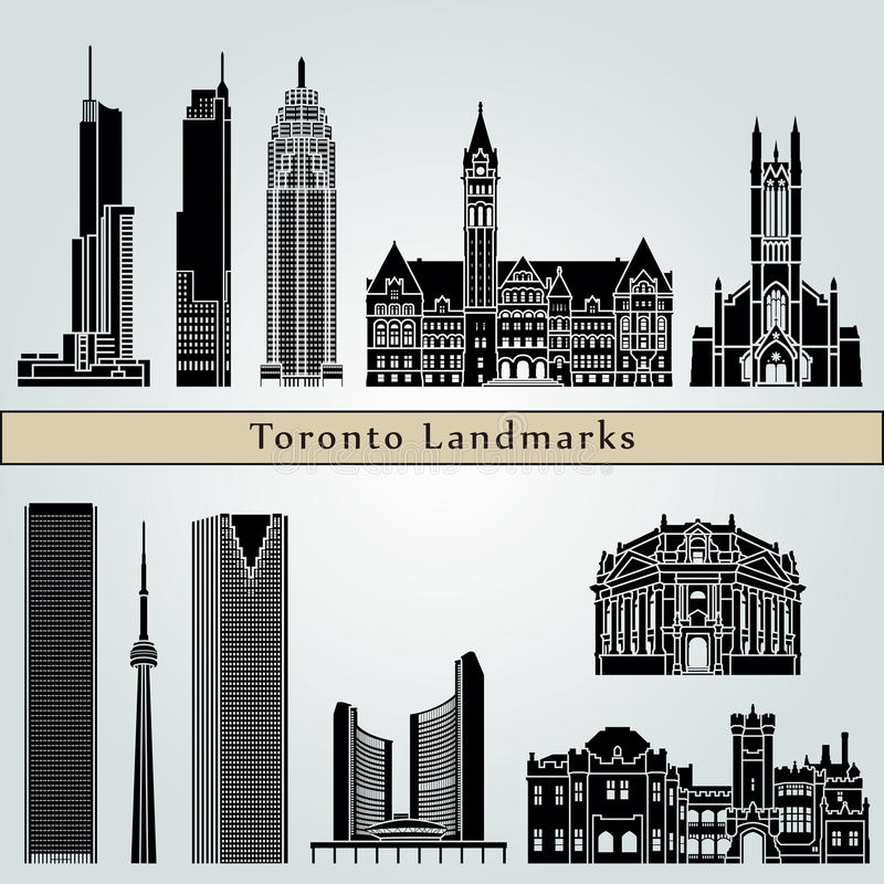 Toronto landmarks and monuments royalty free illustration