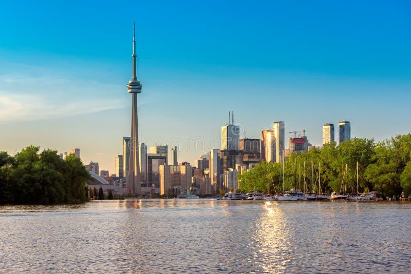Toronto linia horyzontu od wyspy obraz royalty free