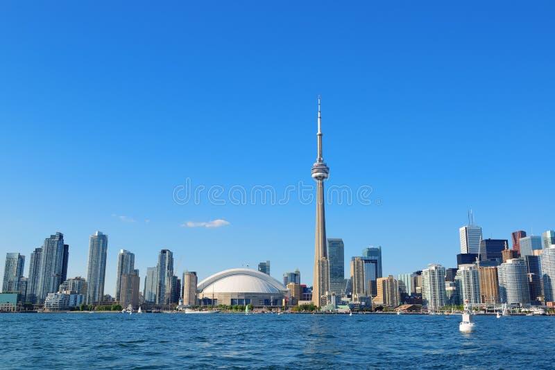 Toronto linia horyzontu w dniu obraz royalty free