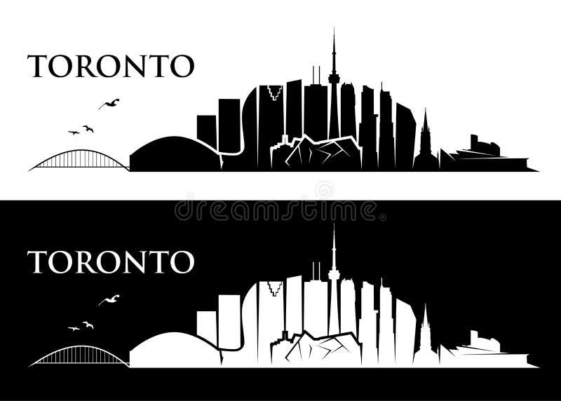Toronto linia horyzontu wektorowa ilustracja - Kanada - royalty ilustracja