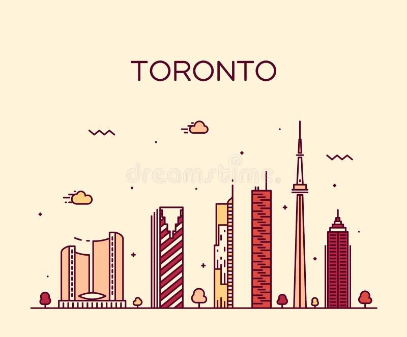 Toronto linii horyzontu modny wektorowy ilustracyjny liniowy ilustracja wektor