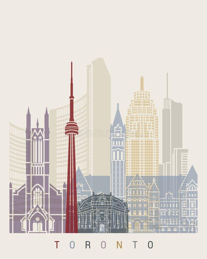 Toronto linii horyzontu plakat royalty ilustracja