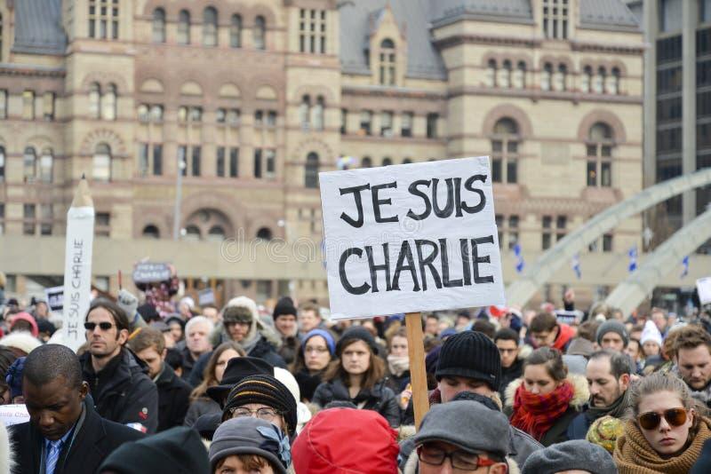 Toronto ludzie spotykają w czuwaniu obrazy stock