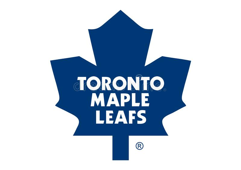 Toronto Maple Leaf Logo. Collection of vector logos of National Hockey League teams. vector format available AI illustrator royalty free illustration