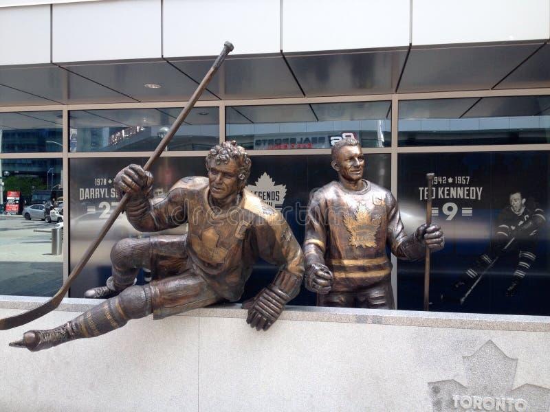 Toronto Maple Leafshockeyspelare royaltyfria foton