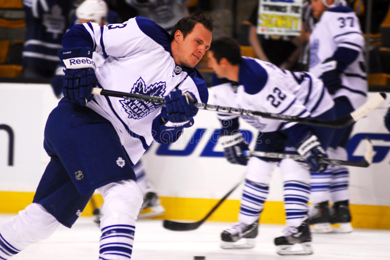 Toronto Mapleleafs Captain Dion Phaneuf royalty free stock photography