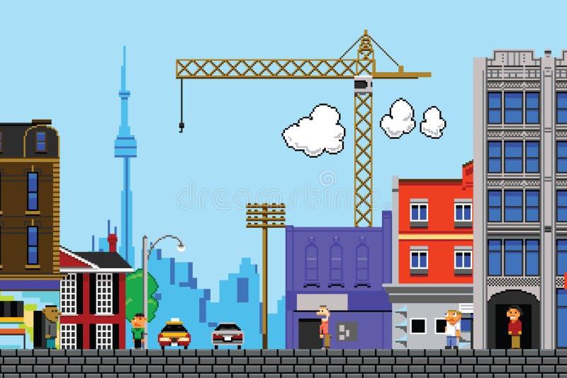 Toronto met acht bits stock illustratie
