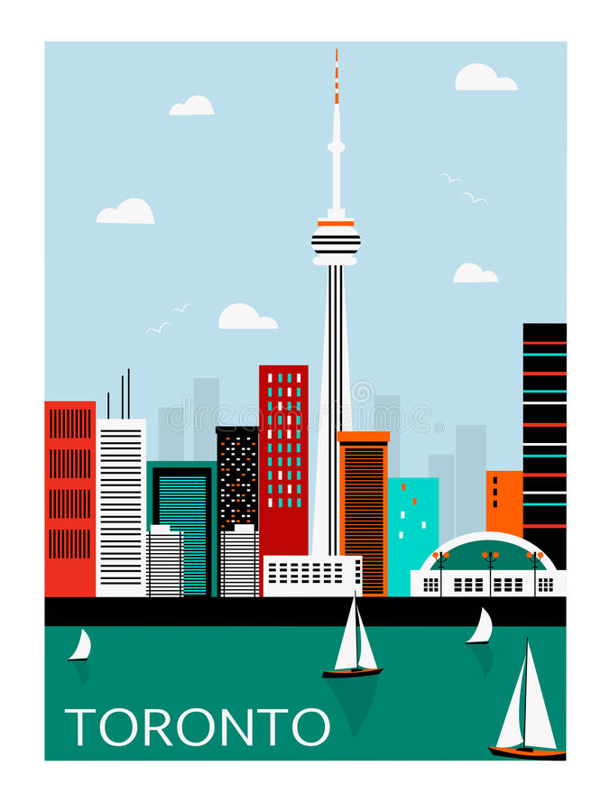 Toronto miasto Kanada royalty ilustracja