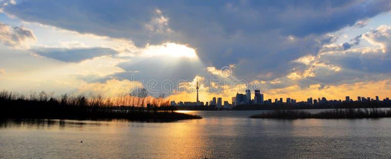 Toronto nach Sturm lizenzfreie stockfotografie