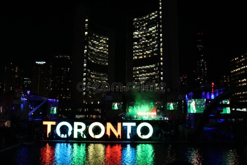 Toronto Nathan Philip Square (Pan- Amspiele) lizenzfreie stockbilder