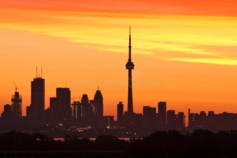 Toronto no nascer do sol fotos de stock royalty free