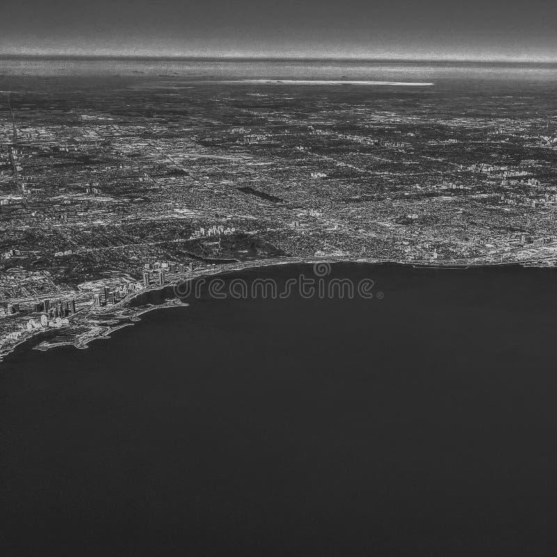 Toronto Ontario antenn arkivfoton