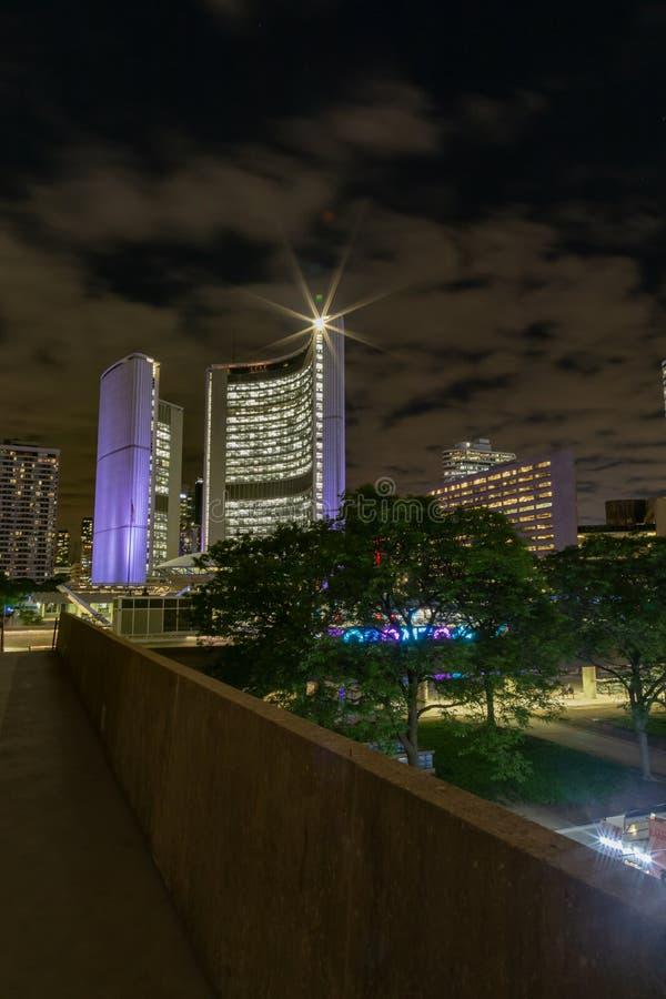 Toronto Ontario Canadá en la noche fotografía de archivo