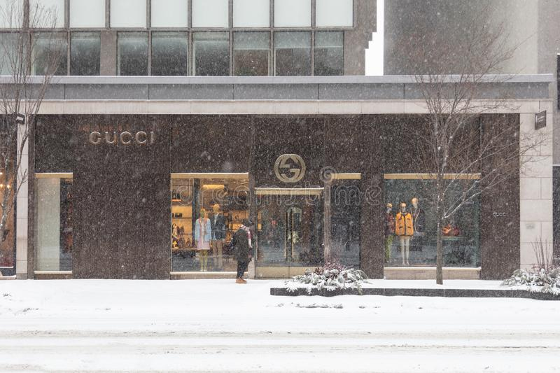 Gucci Snow Storm Canada Toronto Feb 12 2019-1 stock images