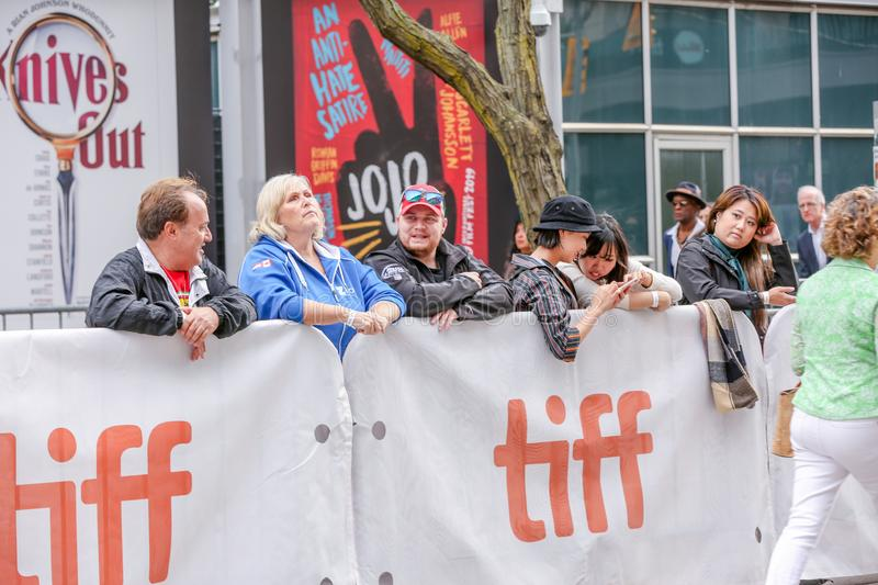 TORONTO, ONTARIO, CANADA - SEPTEMBER 9, 2019: FANS ATTEND TORONTO INTERNATIONAL FILM FESTIVAL. royalty free stock photos