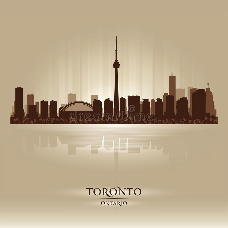 Toronto Ontario skyline city silhouette vector illustration