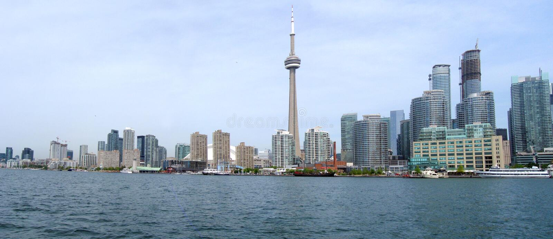 Toronto panorama fotografia stock