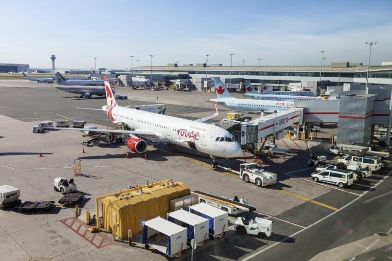 Toronto Pearson internationell flygplats arkivbilder
