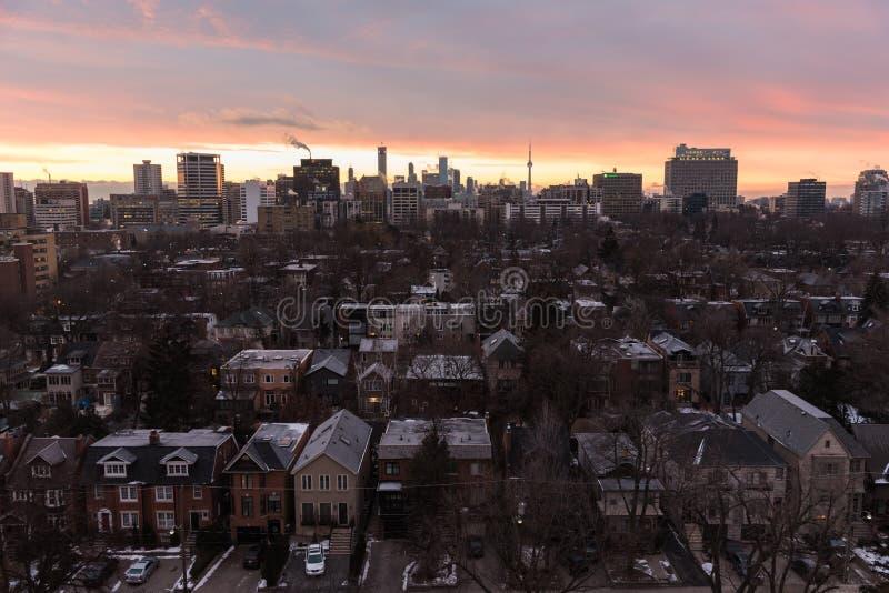Toronto pejzażu miejskiego panorama obrazy royalty free