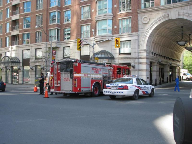 Toronto Police and Fire royalty free stock photography