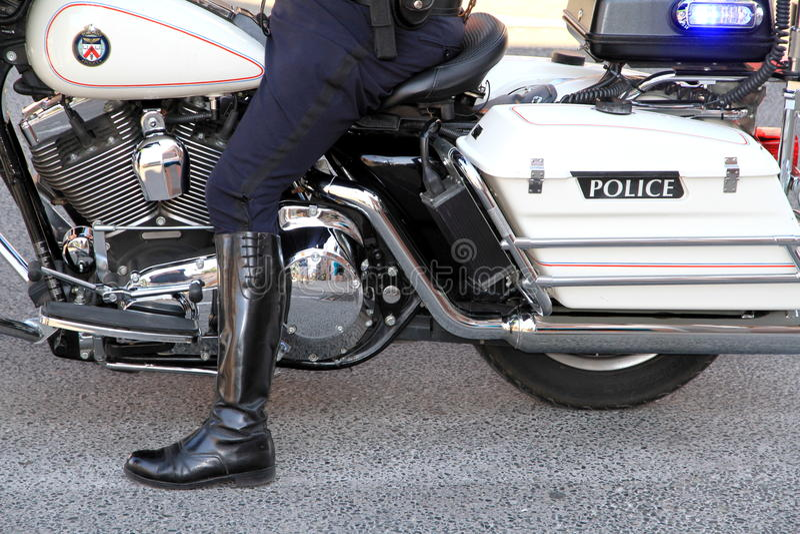 Toronto Police Motorbike royalty free stock image