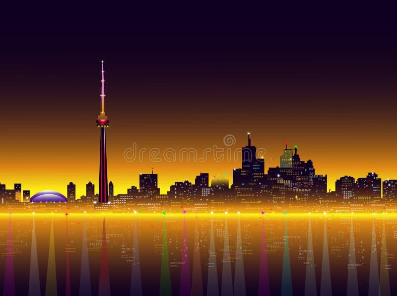 Toronto przy noc wektoru ilustracją royalty ilustracja