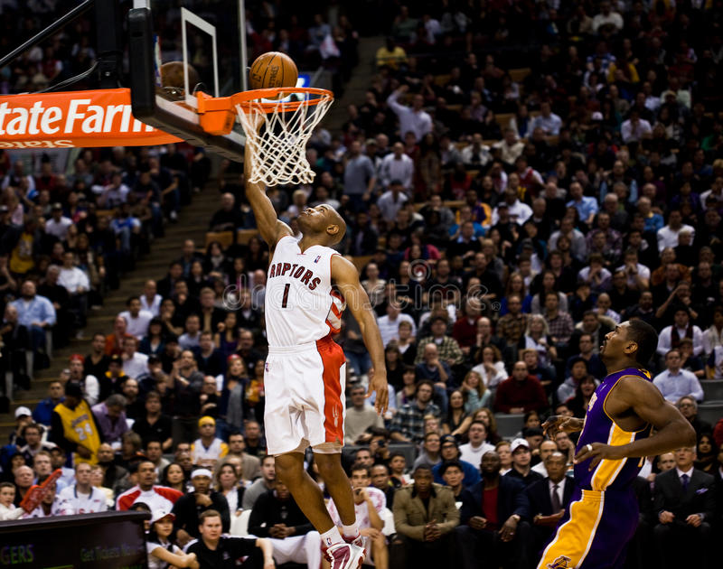 Toronto Rapters contra Los Angeles Lakers fotografia de stock royalty free