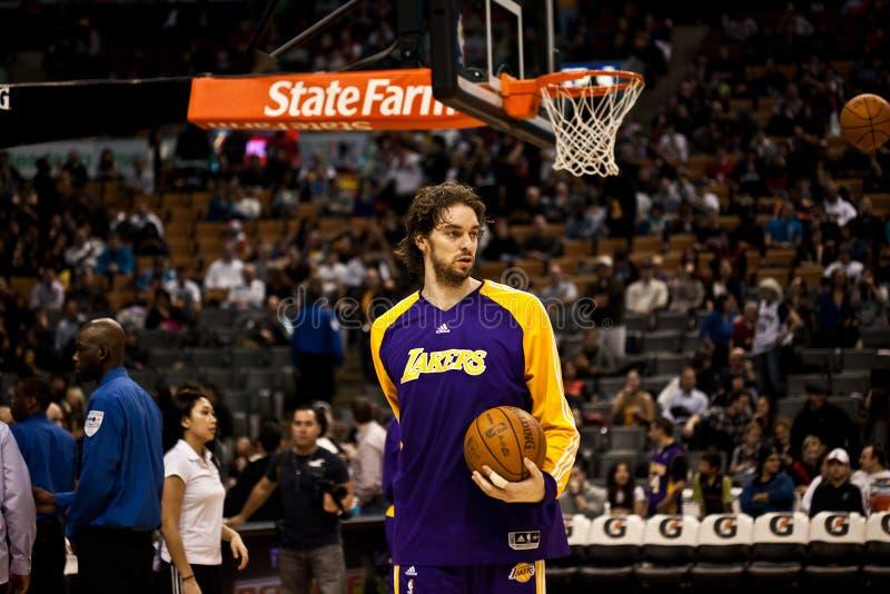 Toronto Rapters contra Los Angeles Lakers fotografia de stock
