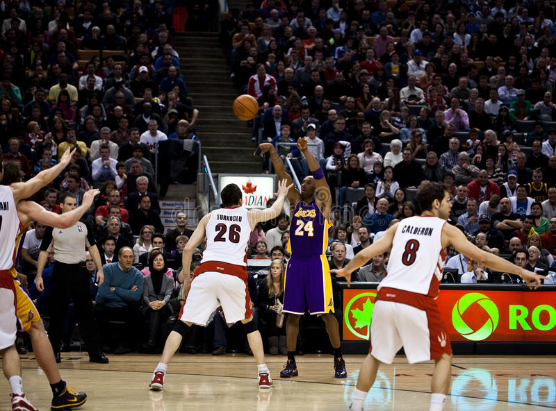 Toronto Rapters contro Los Angeles Lakers immagine stock