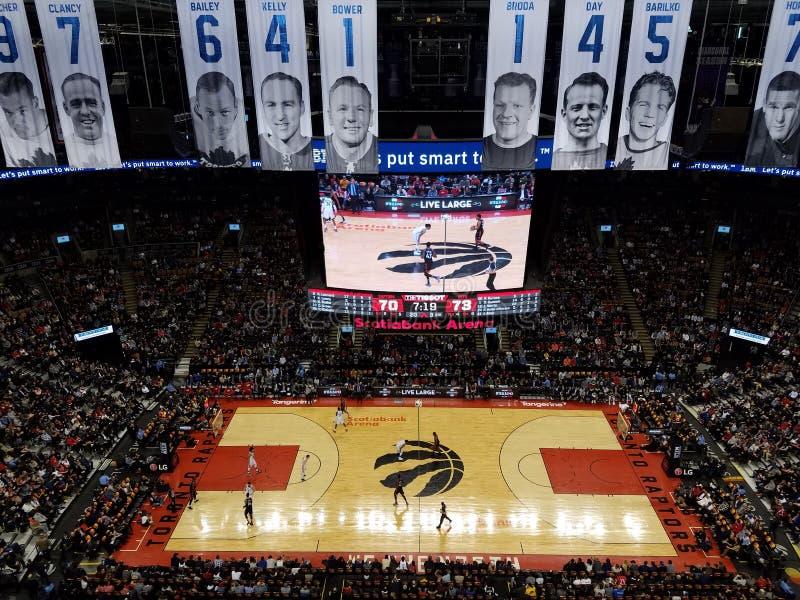 Toronto Raptors na arena de Scotiabank imagem de stock royalty free