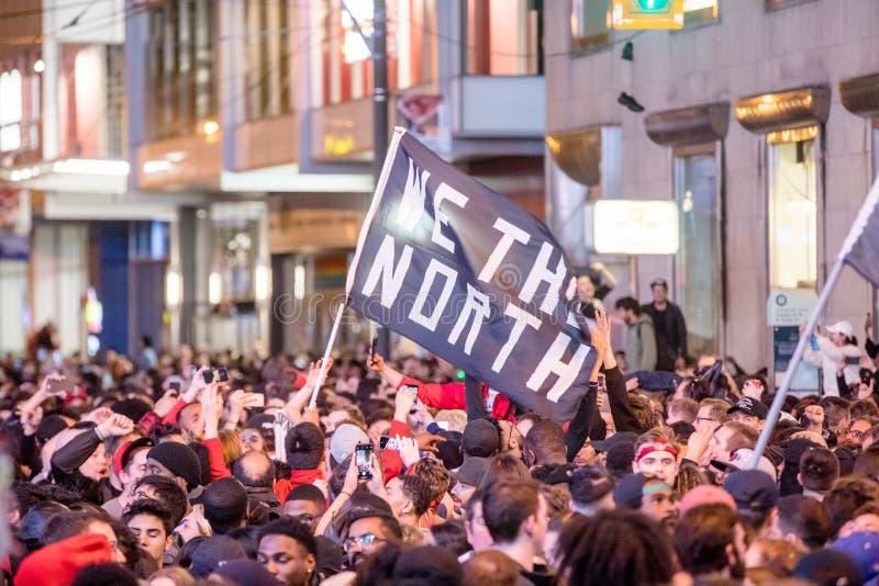 Toronto Raptors wygrany NBA mistrzostwo 14, 2019 - Toronto Kanada, Czerwiec, - fotografia stock