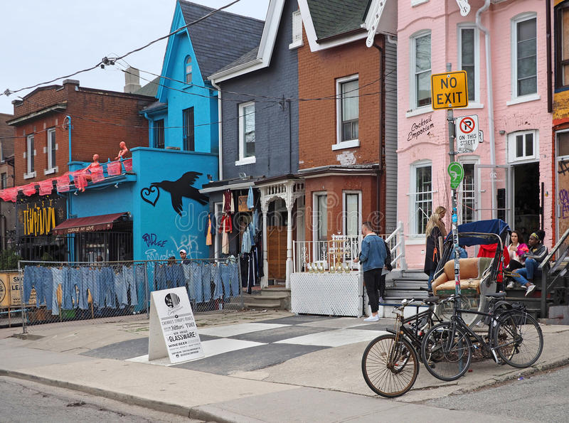 Toronto`s Kensington Market stock images
