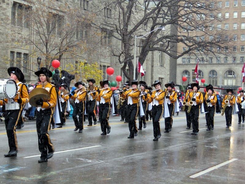 Toronto Santa Claus Parade Orchestra 2016 imagem de stock royalty free