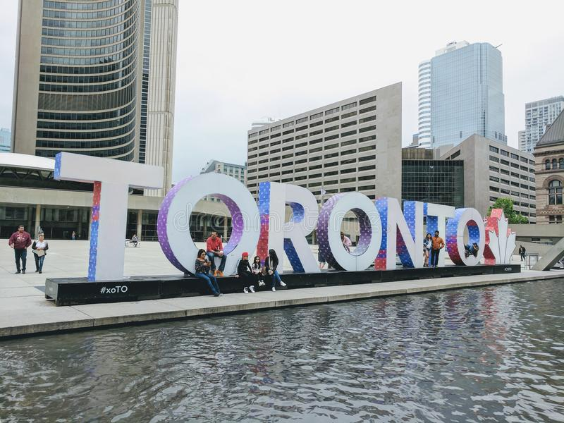Toronto sign. This is the sign of Toronto that is a big tourist atraction stock photo