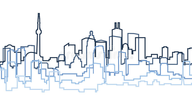 Toronto Silhouette. Skyline silhouette of the city of Toronto, Canada royalty free illustration