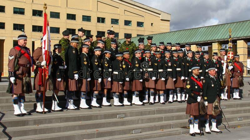 Toronto skotskt regemente 8 fotografering för bildbyråer