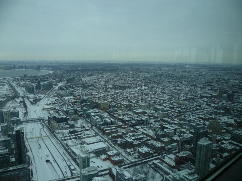 Toronto from the sky stock image