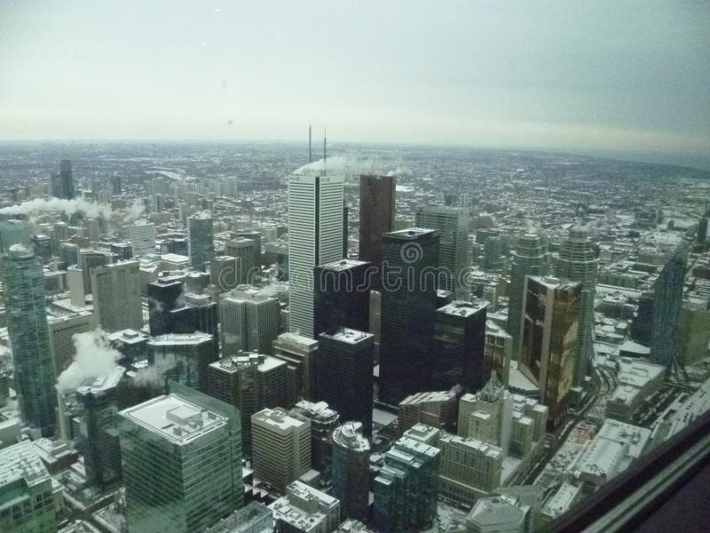 Toronto from the sky stock photography