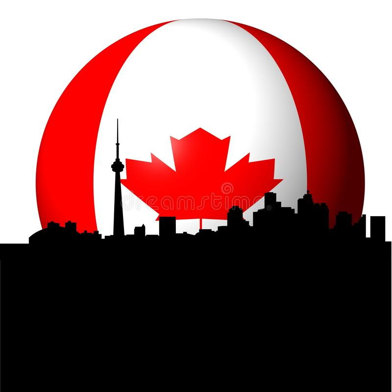Toronto Skyline With Canadian Flag Sphere Royalty Free Stock Photography
