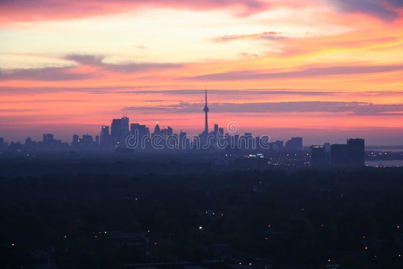 Toronto Skyline at Dawn stock photography
