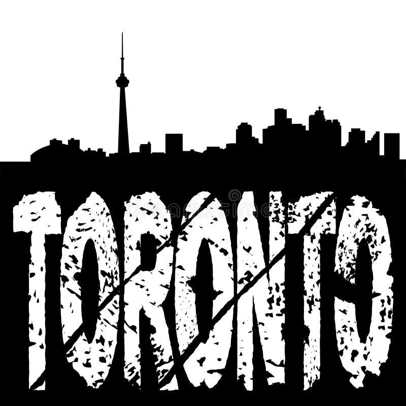 Toronto skyline grunge text royalty free illustration