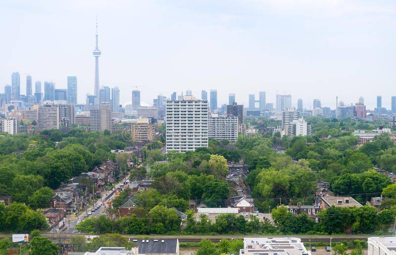 Toronto skyline - north view royalty free stock photography