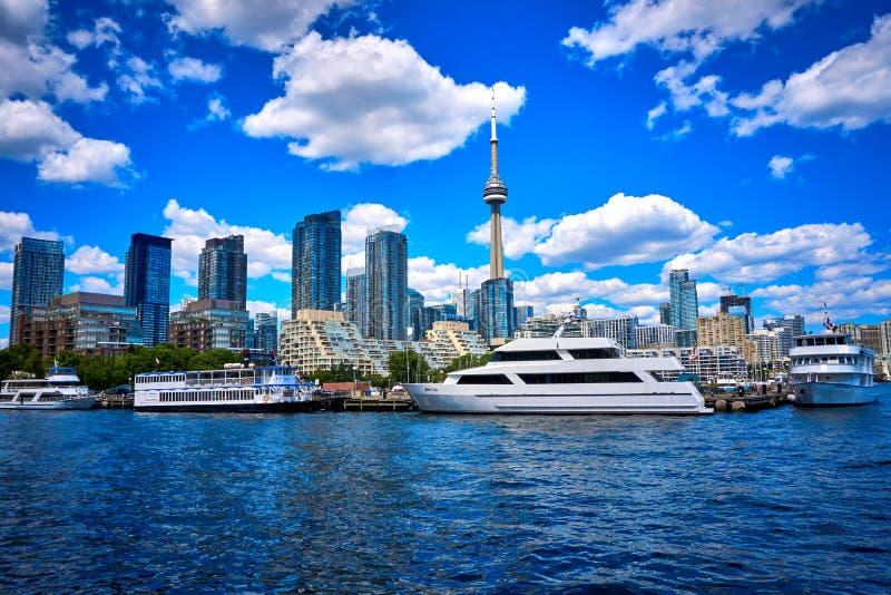 Toronto skyline Ontario Canada. Skyline, city, buildings, cityscape, downtown,tourism,view, sky, architecture, skyscraper, urban, panorama, landscape stock images