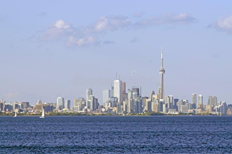 Toronto skyline from Ontario lake royalty free stock photography